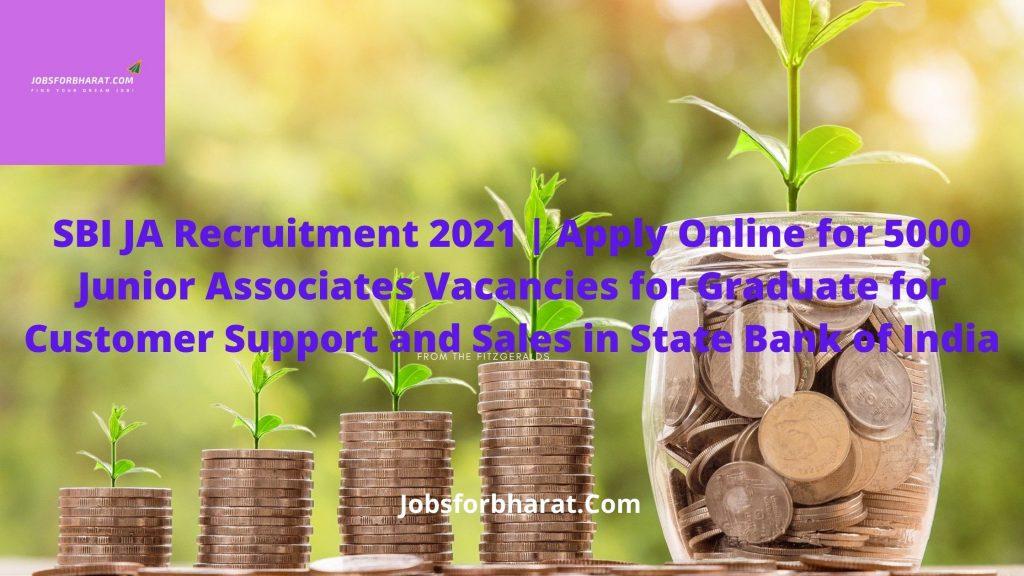 SBI Junior Associates Recruitment 2021